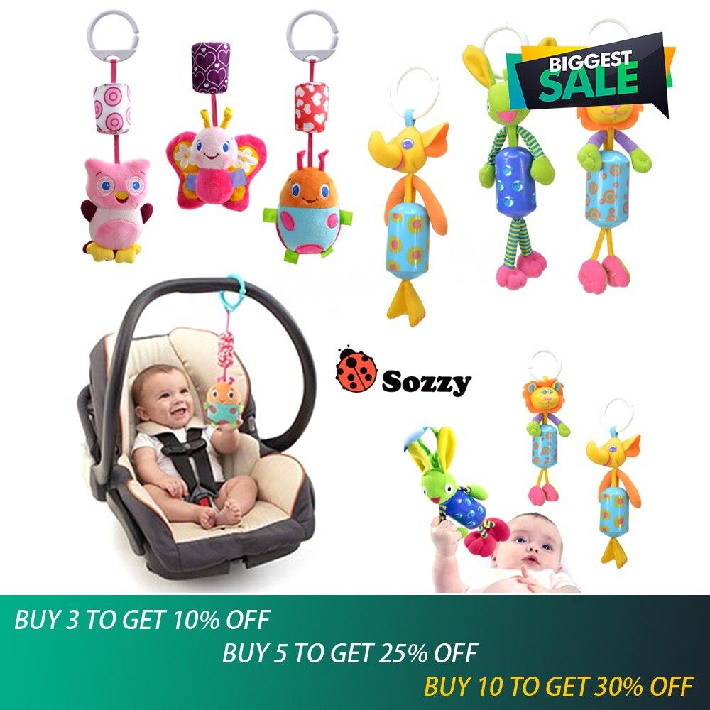 1 pièces nouveau bébé jouets Mobile bébé en peluche Sozzy lit vent carillons hochets cloche jouet poussette pour nouveau-né en gros