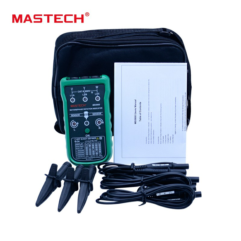 MASTECH MS5900 3 Motor Meter Sequence Tester LED Field Rotation Phase IndicatorMASTECH MS5900 3 Motor Meter Sequence Tester LED Field Rotation Phase Indicator