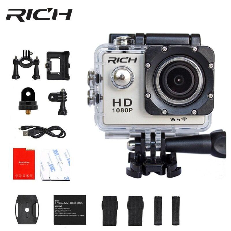 Reiche D9 Sport Action Kamera Wifi Unterwasser Mini Cam 1080 P Hd 8mp Wasserdichte Sj Cam Sport Kameras Go Outdoor Pro SchöNe Lustre Sport & Action-videokamera