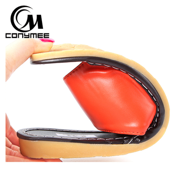Female Home Indoor Slippers Flip Flops Summer 2019 Leather Sandals Beach Slippers Non-slip Men Women Casual Shoes Bath Slippers 5