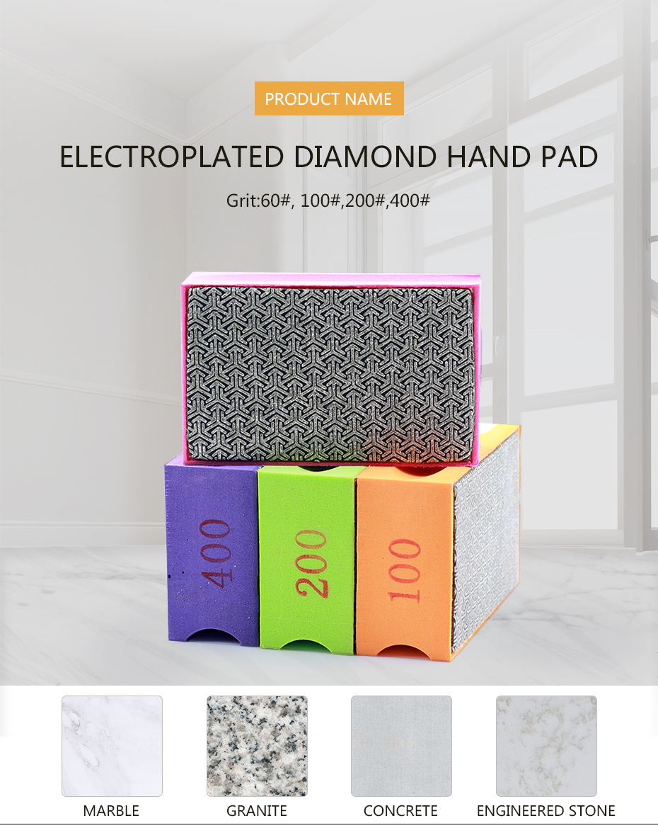 Diamond hand polishing pad  polish grinding ceramic tile diamond abrasive pads for stone,glass and steel