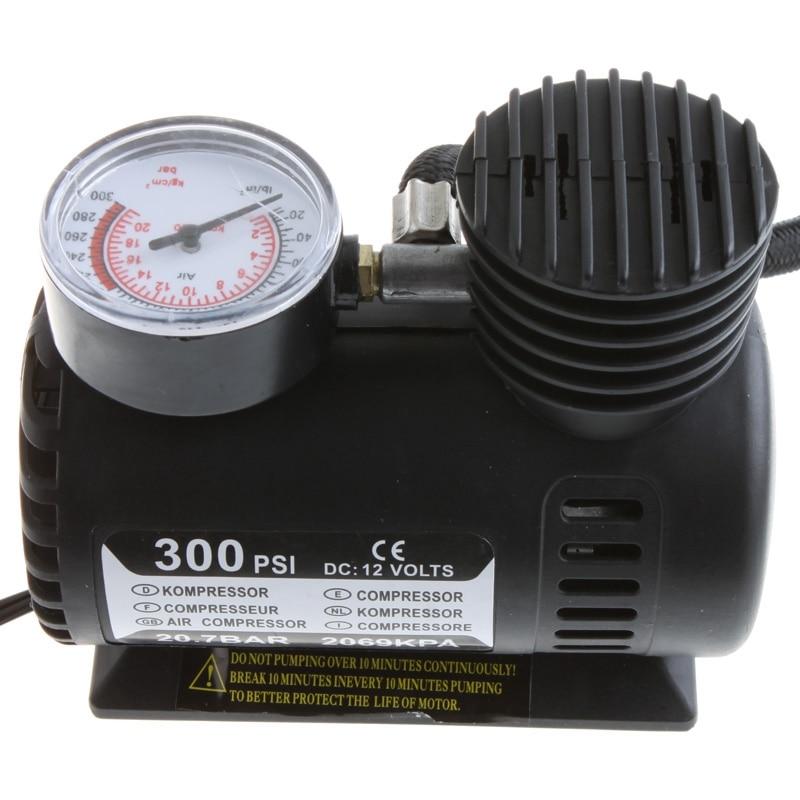 NEW 12 V Portable Mini Air Compressor 300 PSI Electric Tire Infaltor Pump Car Air Pump Tyre Compressor For Beds Mattresses Toys