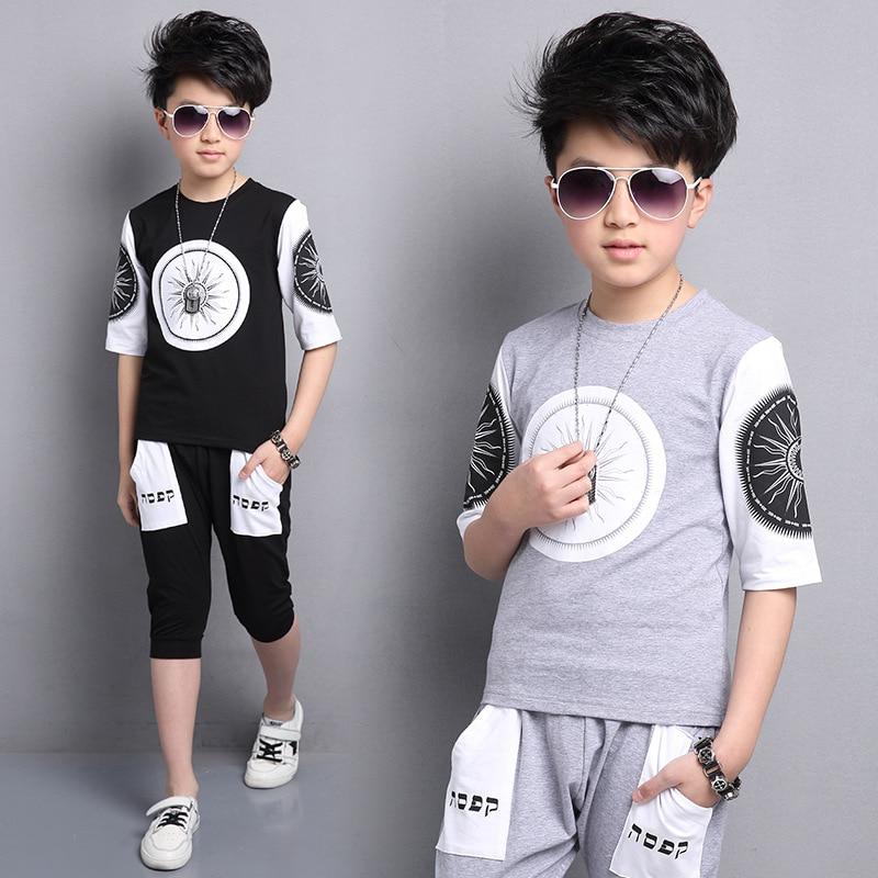 New 2018 Summer Baby Boy Clothes Casual Style O-neck Short Sleeve + Short Pants 2 Pcs Children Boys Clothing Set Conjunto Infant