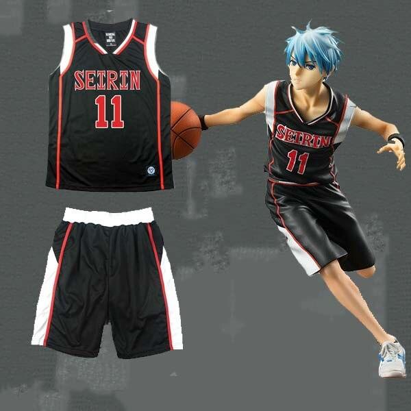 Anime KUROKO S BASKET SEIRIN School 11 Kuroko Tetsuya Black Basket Jersey Team Uniform Kuroko no