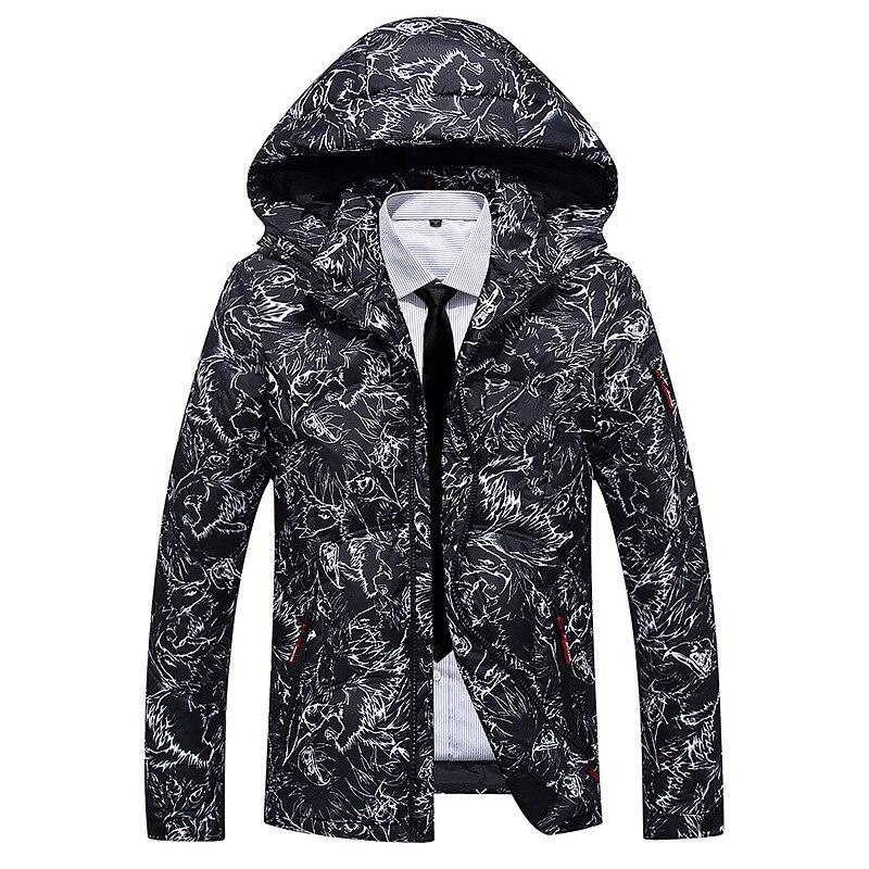2018 haute qualité épais doudoune hommes manteau neige parkas mâle chaud marque vêtements hiver vers le bas veste matelassée 90% blanc canard
