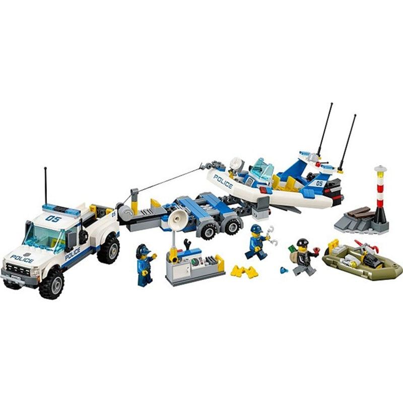 Lepin Pogo Bela Motorcycle Car Boat Stations Model Urban Police City Building Blocks Bricks Compatible Legoe Toys