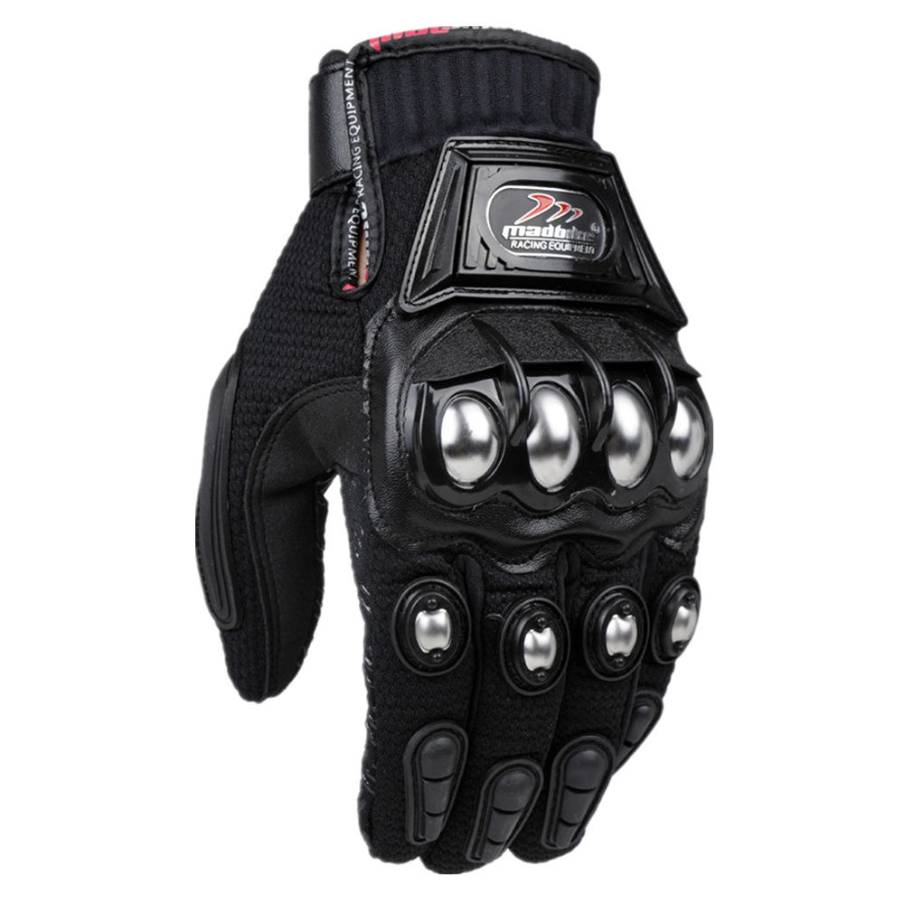 Motorcycle leather gloves india - Alloy Steel Madbike Motorcycle Gloves Racing Gloves Motorbike Gloves Protective Guantes Luvas Para Motor Black Blue
