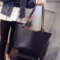 Grande Bolsa Feminina Bolsa Das Mulheres Famosa Marca Sacos de Ombro Sólidos Bolsas de Grife de Alta Qualidade Sacos de Mão Das Senhoras Mulheres Tote 2016