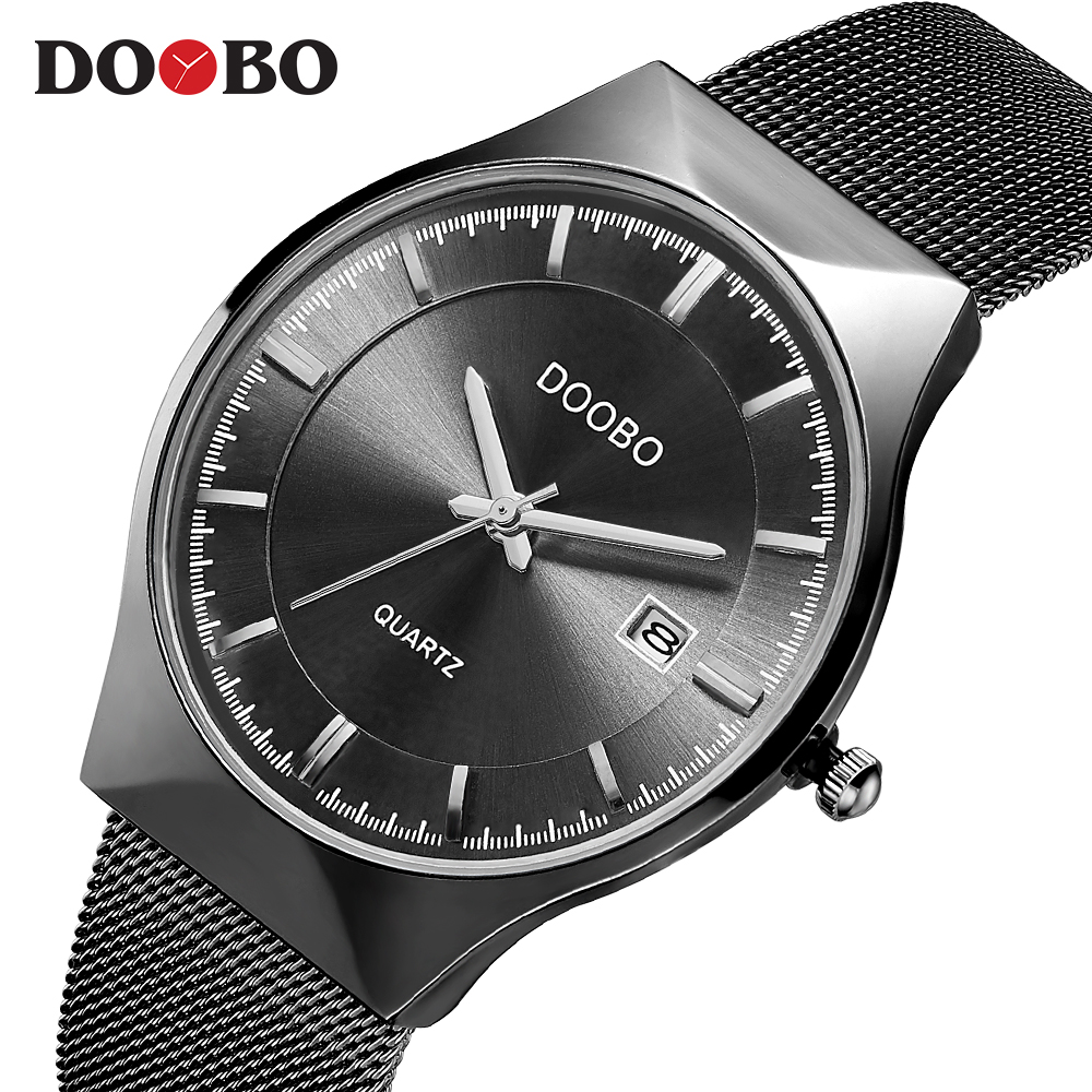 Deportes DOOBO relojes para hombre Top marca de lujo impermeable reloj deportivo hombres Ultra delgado Dial reloj de cuarzo Casual Relogio Masculino D035