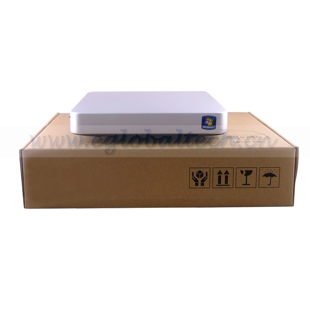 Free Shipping DHL Ultra Thin PC Client Intel Atom D2500 4GB DDR3 64GB SSD Mini Server Cheap Nettop without HDD