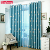 Hot Sale Kids Cartoon Blackout Curtains For Baby Room Girls Boys Bedroom Blue Curtains For Children