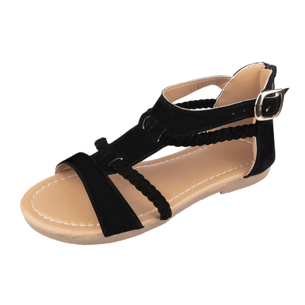 SAGACE shoes Woman Sandals Ladies Fashion Buckle Ankle Strap Braided Sandals Casual Shoes Sandals 2019 Hot sell summer SandalsSAGACE shoes Woman Sandals Ladies Fashion Buckle Ankle Strap Braided Sandals Casual Shoes Sandals 2019 Hot sell summer Sandals
