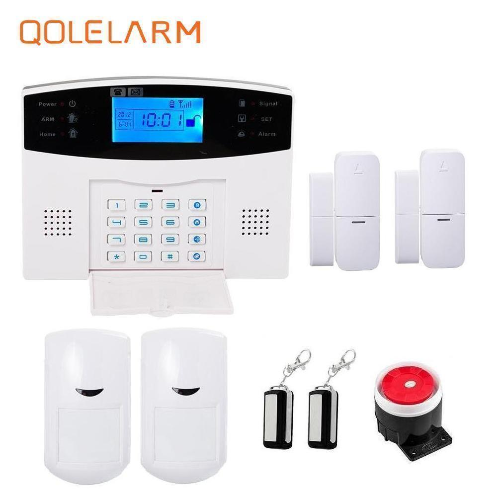 Russian/French/Spanish prompt voice smart home security GSM alarm system wireless remote control by SMS calling with LCD display french spanish english voice prompt wireless gsm sms pstn intrusion alarm system st iiib with pet immune pir sensor