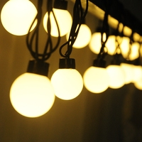 Luminaria 10m LED String Ball Lights Curtain Garland For Fairy Wedding Garden New Year Outdoor Holiday