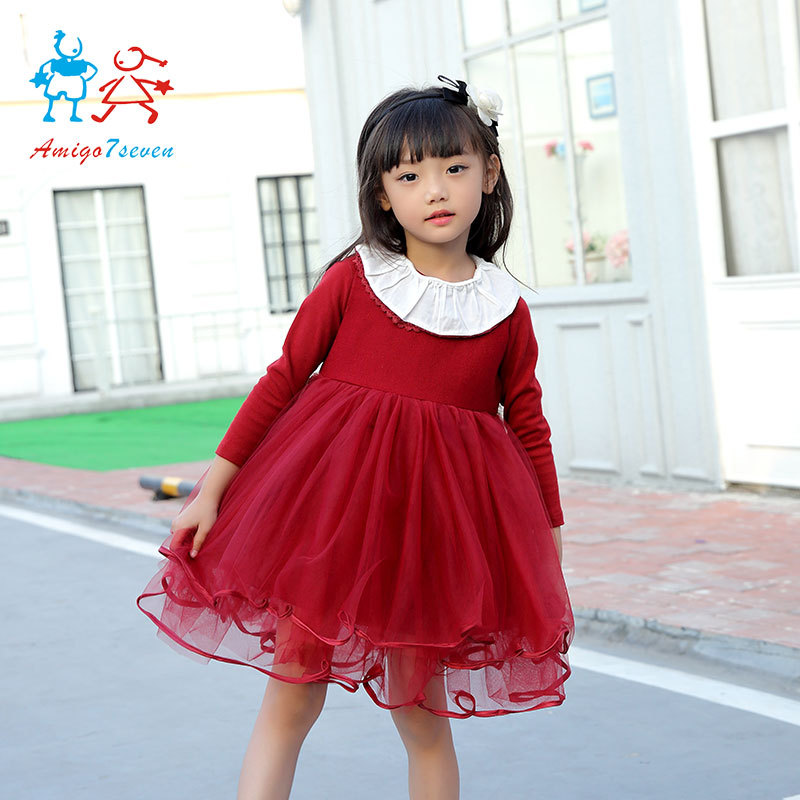 Подробнее о 2017 Limited Flower Baby Girls Princess Infant Dress Girl Clothes Dresses Spring Autumn Party Wear Toddler Kids Birthday For 2017 new princess party wear toddler girls dresses kids clothes elegant child flower girl lace ivory kids dress for weddings