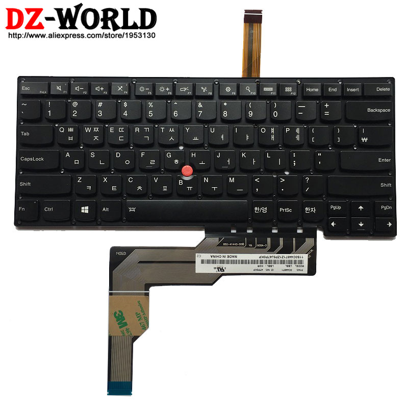 New Original Korean Backlit Keyboard for IBM Lenovo Thinkpad S3 S431  S3 S440 Backlight Teclado KR Korea 0C44871 laptop palmrest keyboard for lenovo for thinkpad s3 s431 s440 s431 us gr uk touchpad original mp 12n63 keyboard bezel cover