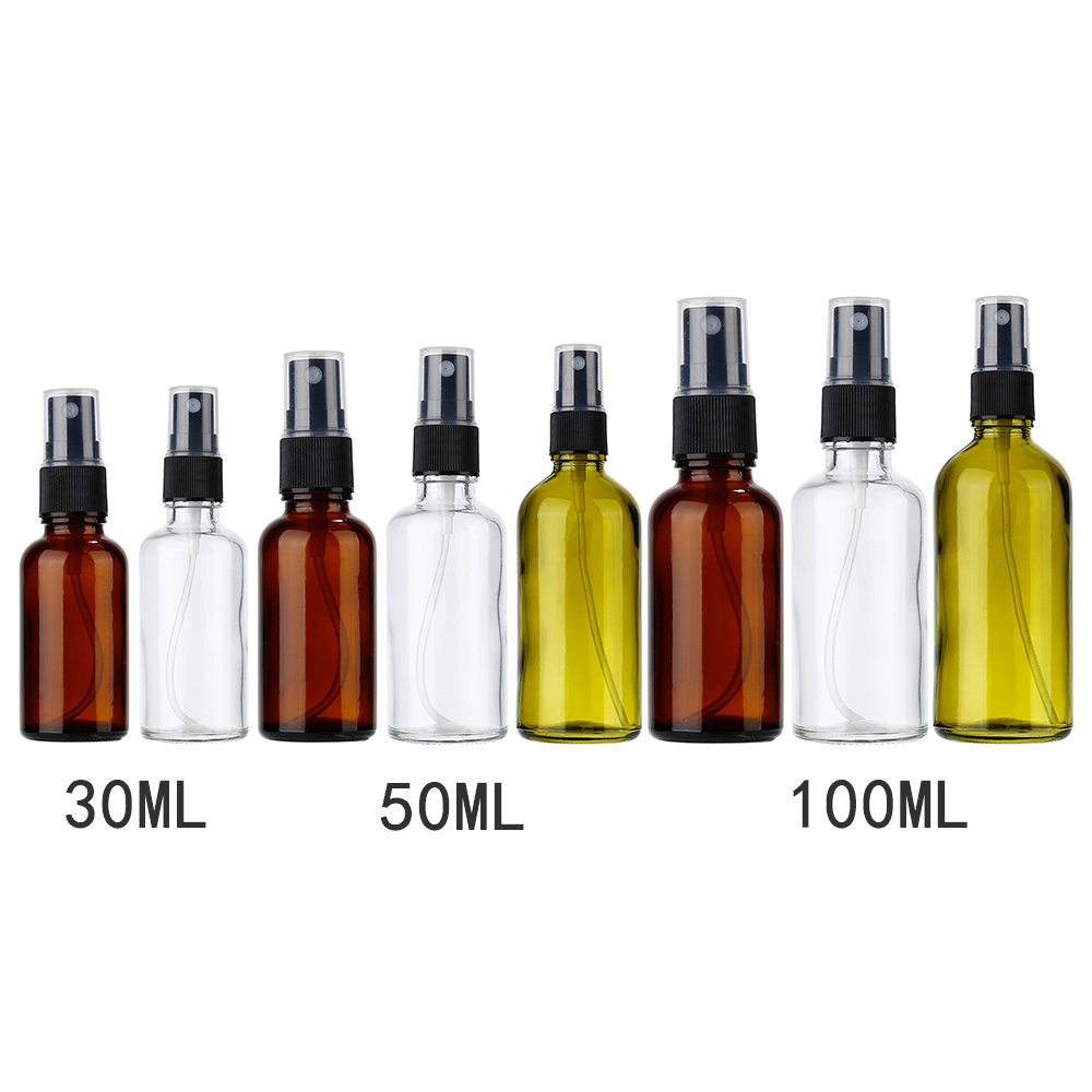 1 Pc 30/50/100ml Refillable Esstenial Oil Atomizer Empty Makeup Spray Bottle 3 Sizes Optional Portable Glass Sprayer For Liquid