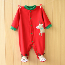 hot deal buy christmas baby rompers santa newborn body suits x'mas babywears baby overall baby clothes w156