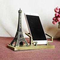 에펠 탑 휴대 전화 랙 금속 공예 합금 선물 사무실 홈 장식