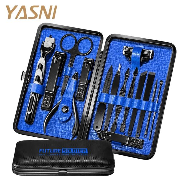 14Pcs/set Pro Manicure Set Tools Shaving Razor Nails Clipper For Men Pedicure set Kit Utility Scissors Knife Nail Art kits NT149 1