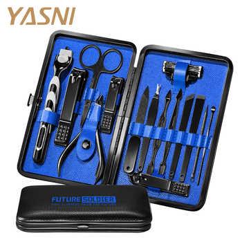 14Pcs/set Pro Manicure Set Tools Shaving Razor Nails Clipper For Men Pedicure set Kit Utility Scissors Knife Nail Art kits NT149 - DISCOUNT ITEM  43 OFF Beauty & Health