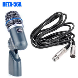 BETA56A Metal Professional Wired Kick Drum Microphone For BETA 56A Sax Piano Percussion Guitar Bass Amplifier Brass Instruments