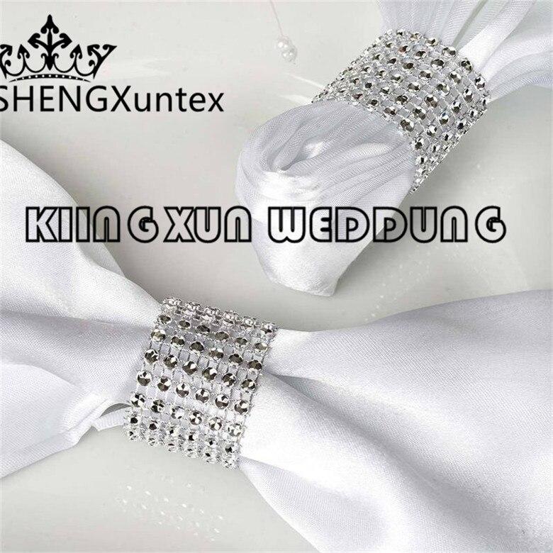 Diamond Buckle Used For Table Napkin  Chair Band Sash Wedding Event Decoration