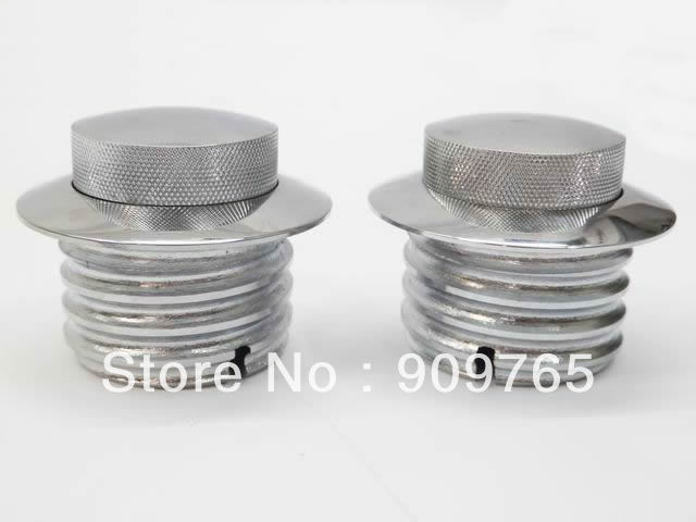 Free Shipping 1 Pair GAS FUEL TANK FLUSH POP-UP CAP FOR HARLEY DAVIDSON SOFTAIL DYNA GLIDE 82+ CHROME aliexpress no 1 free shipping fuel tank heater 12v 50w for diesel car