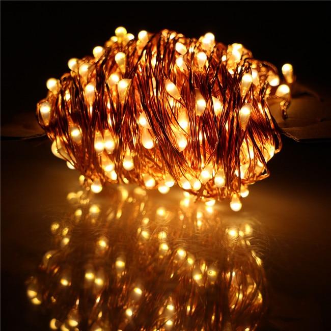 40M 400LED Solar String Light Copper Wire Fairy Lights Outdoor Garden Waterproof