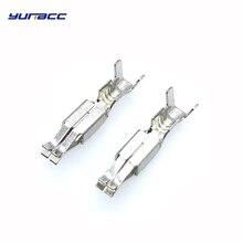 цена на 50 pcs 3.5 mm car splices Crimping wire terminal Non-insulated auto female terminals DJ622-E3.5A