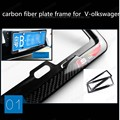 for V-olkswagen Car Style Car License Plate Frame Holder Carbon Fiber Racing Number Plate Holder ,car Accessory