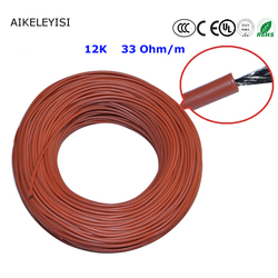 Cable de calefacción de fibra de carbono de 12K 33Ohm de 10 a 100 metros de suelo cálido