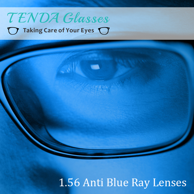 1.56 Monofocales Lentes de Prescripción Asférico Transparente Anti-Blue Ray Lente Óptica Para Los Ojos Gafas de Equipo Miopía