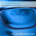 1.56 Visão Única Lente Óptica Asférica Lentes de Prescrição Clara Anti-Blue Ray Para Os Olhos Miopia Óculos de Computador