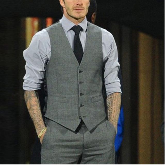 2016 Hombres de Negocios de Traje de Chaleco Formal de Otoño Vestido Sin Mangas de Moda Hombre de Negocios Blazer Tops Slim Fit Chaleco de Traje de Los Hombres chaleco
