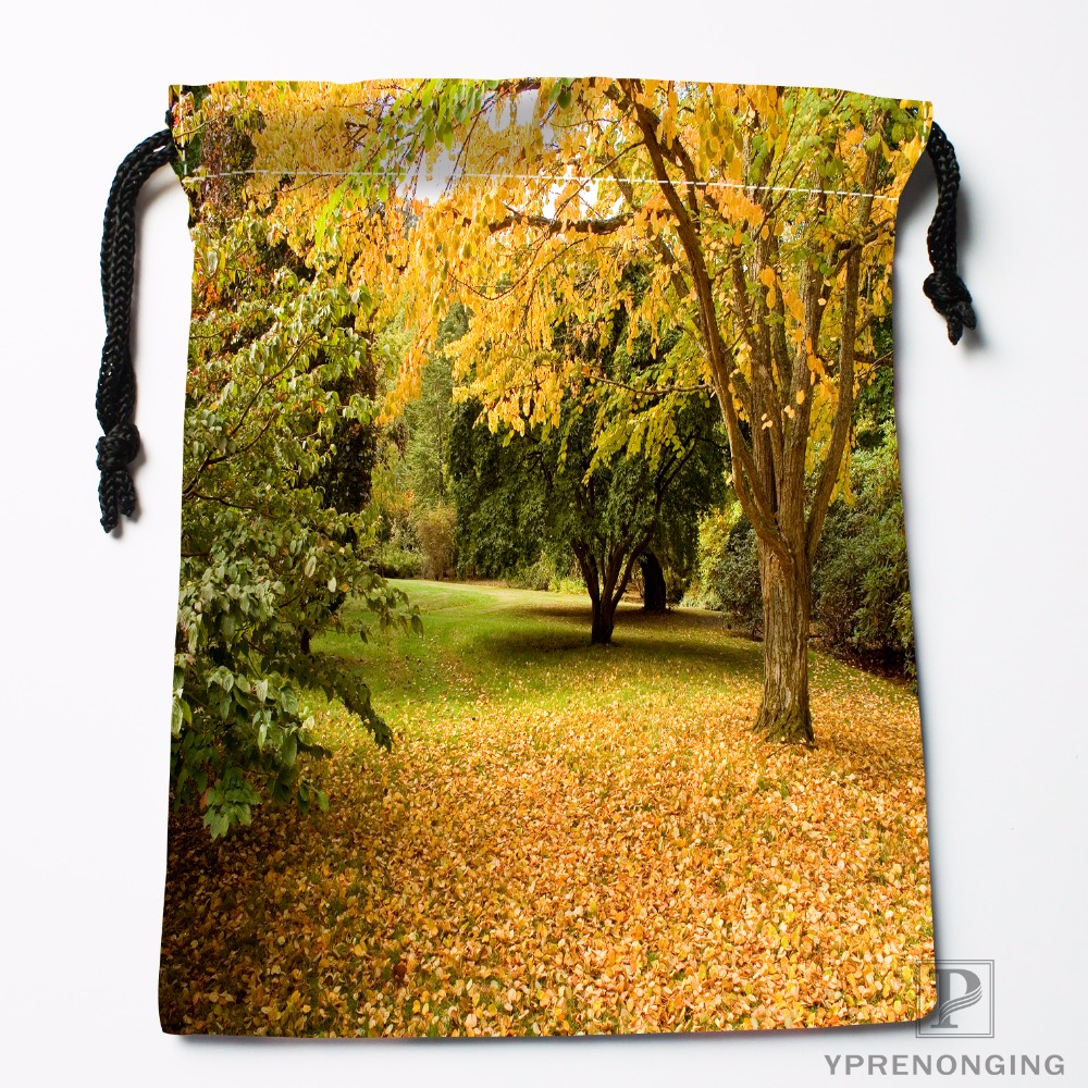 Custom Summe Autumn Nature Drawstring Bags Travel Storage Mini Pouch Swim Hiking Toy Bag Size 18x22cm#0412-04-02