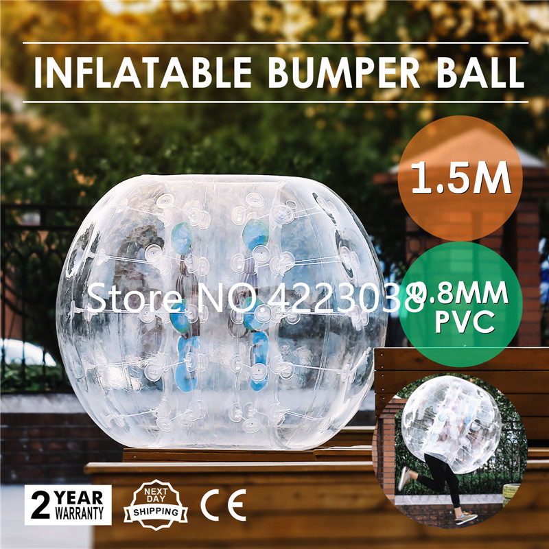 Free Shipping 1.5m Clear Bubble Soccer Set Grassplot Snow Field Body Inflatable Bubble Soccer Bubble Ball