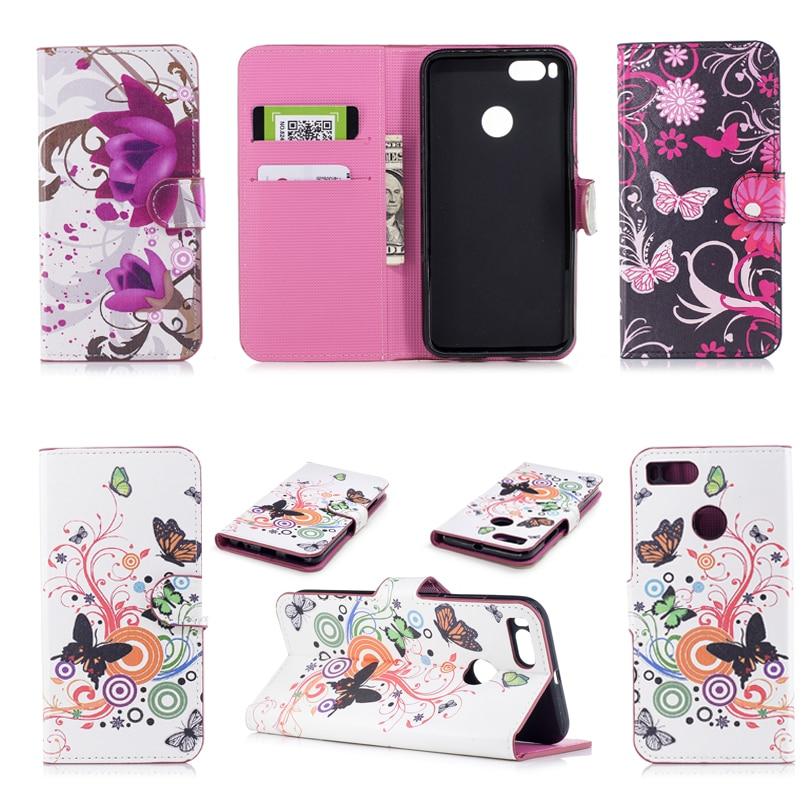 Phone cases For Xiaomi Mi 5x Case 5.5celular Luxury 3D Diverse back Painteds Flip Cover For Xiaomi Mi A1 Cases Phone wallet bag
