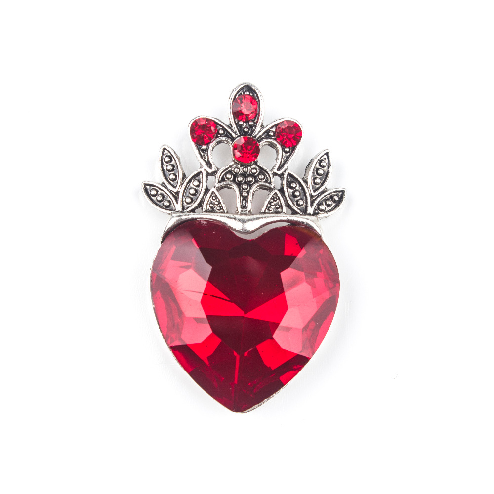 ᑐ5 unids Navidad collar descendientes corazón rojo collar corona ...