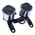 Universal Motorcycle Speedometer Odometer Gauge 0~180km/h 13000 RPM LED Backlight Tachometer Set