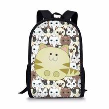 Customize Cat Print Backpack for Girls and Boys Gift offer Dropship wholesale DI