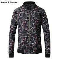 European style abstract wolf head pattern printing fashion casual jacket New arrival quality comfortable winter jacket men M 5XL