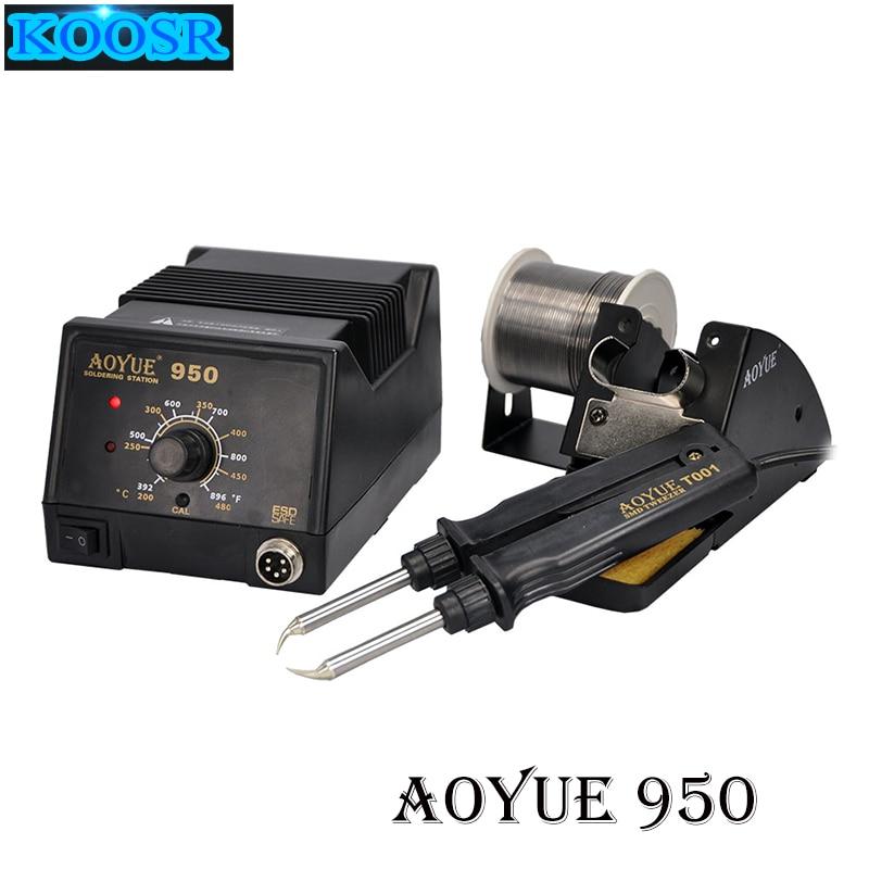 Aoyue 950 SMD Antistatic thermostat adjustable IC soldering station Hot Tweezer Repair rework station