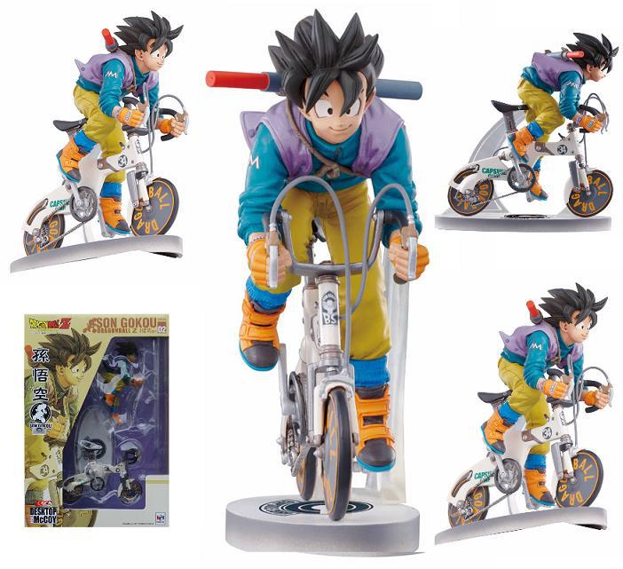 NEW hot 18cm Dragon ball Son Goku Kakarotto Ride a bike Action figure toys collection doll Christmas gift new hot 21cm dragon ball super saiyan 3 son goku kakarotto action figure toys doll collection christmas gift with box sy889