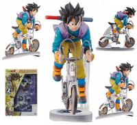 NEW Hot 18cm Dragon Ball Son Goku Kakarotto Ride A Bike Action Figure Toys Collection Doll