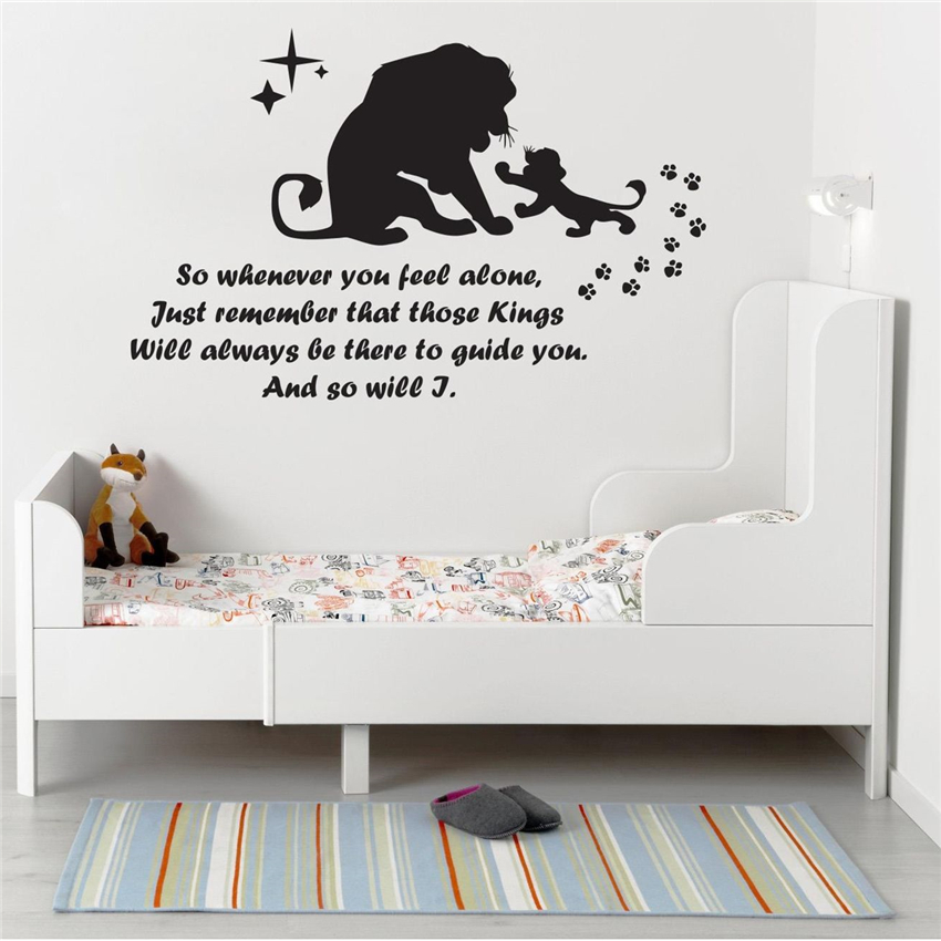Wall stickers art decor decals Lion King For Nursery Kids Room Boys Girls Room Living Room