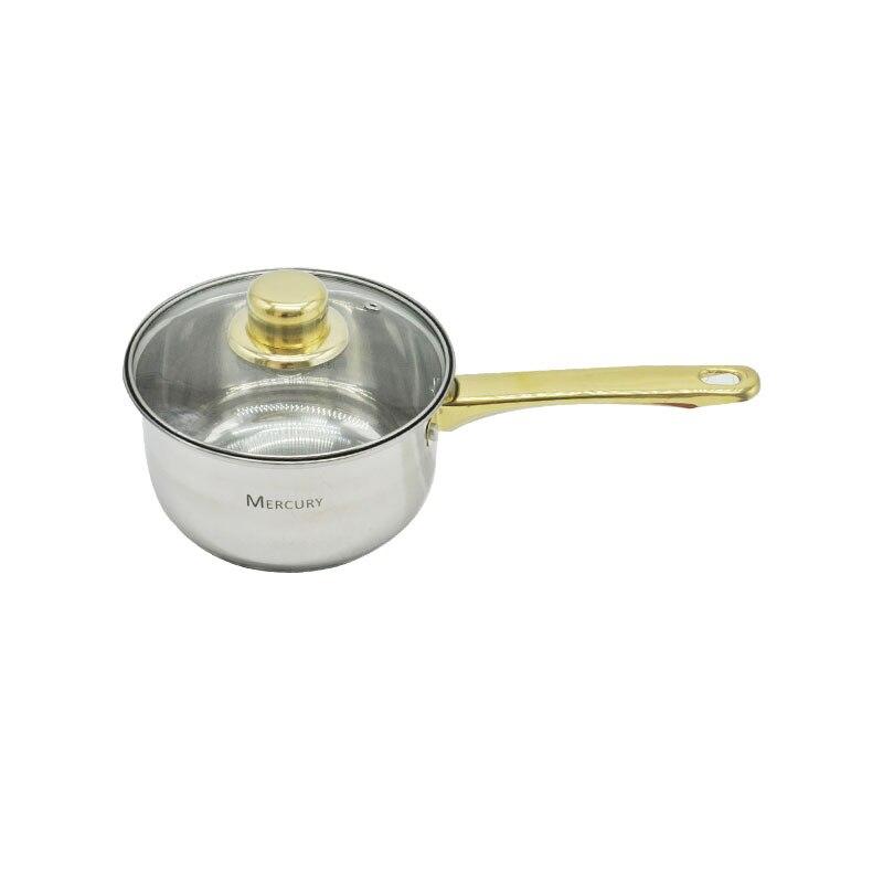 12 шт., нержавеющая сталь, позолоченные ручки, кухонные горшки, наборы посуды, кастрюля, кастрюля, сковорода, посуда, индукционная плита - 5