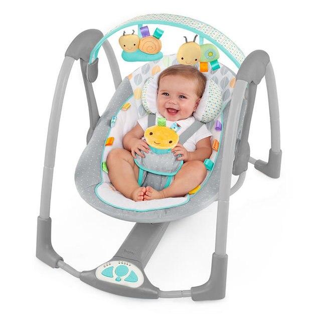Детская кроватка складной электрический встряска качалка музыка детские качели стул ребенка успокоить виброплощадке