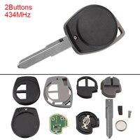 433 МГц 2 кнопки без ключа балванки для ключей дистанционный брелок с чипом ID46 для SUZUKI SWIFT SX4 Alto Jimny, Vitara IGNIS Splash 2007-2013