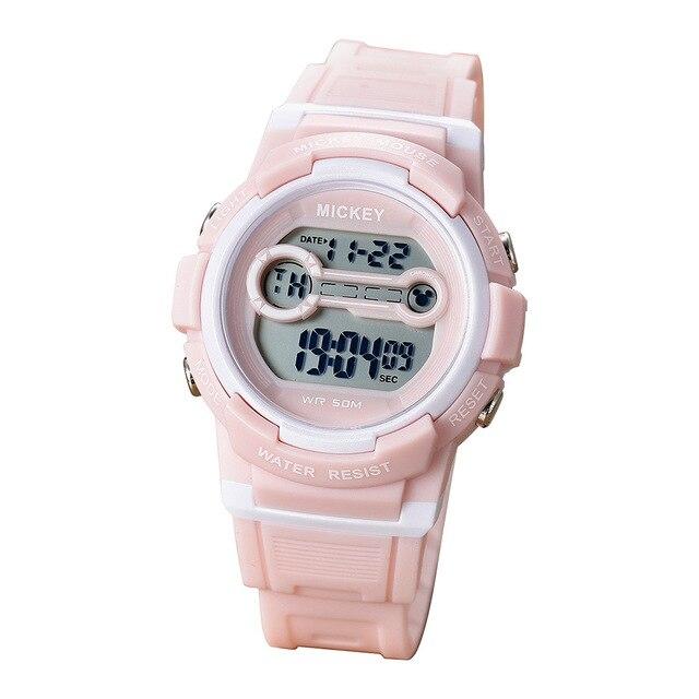 nuevo estilo 09173 ab4cc Relojes Para Niños marca de Disney Mickey mouse niños niñas reloj digital  multifunción impermeable niño pulsera